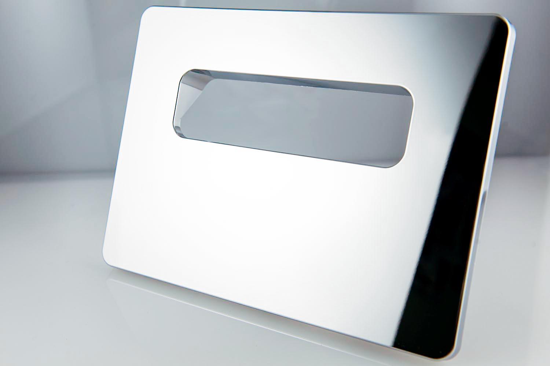 Chromage-de-pieces-plastique-Hydro-sanitaire-Plaque-de-commande-WC