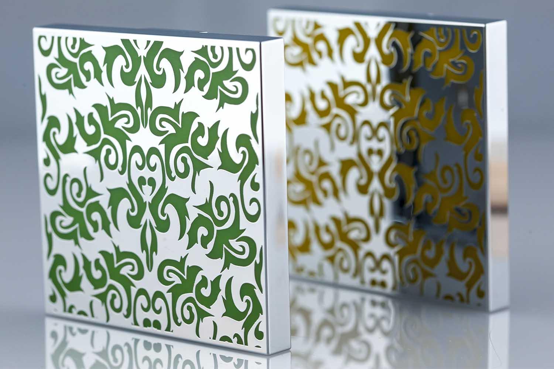 Chromage-de-pieces-plastique-Traitement-galvanique-sélectif-Objet-en-arabesque-galvanisé